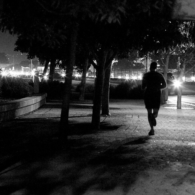runner at night